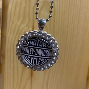 New Harley Davidson BLING necklace